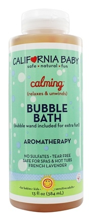 California Baby - Aromatherapy Bubble Bath With Bubble Wand Calming - 13 oz.