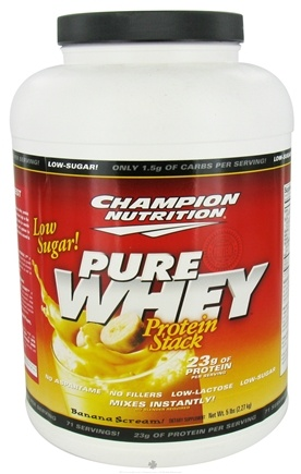DROPPED: Champion Performance - Pure Whey Protein Stack Banana Scream - 5 lbs.