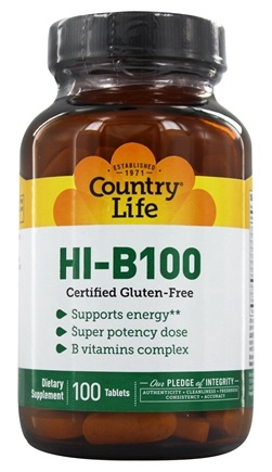 Country Life - HI B100 - 100 Tablets
