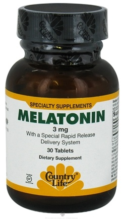 DROPPED: Country Life - Melatonin Rapid Release 3 mg. - 30 Tablets CLEARANCE PRICED