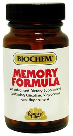DROPPED: Biochem by Country Life - Memory Formula - 50 Vegetarian Capsules