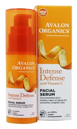Avalon Organics - Vitamin C Renewal Vitality Facial Serum - 1 oz. (Formerly Skin Nourishing Sun-Aging Defense)