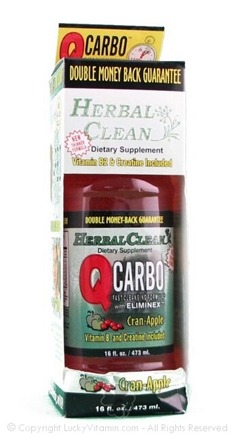 DROPPED: BNG Enterprises - Herbal Clean Qcarbo Fast Cleansing Drink Cran Apple Flavor - 16 Oz.