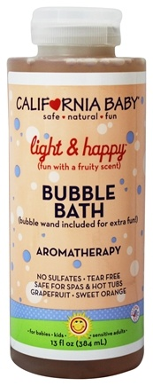 Zoom View - Aromatherapy Bubble Bath With Bubble Wand Light & Happy
