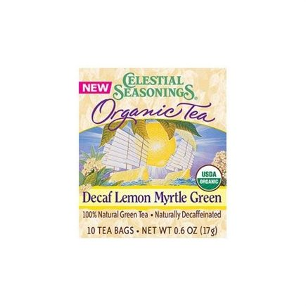 DROPPED: Celestial Seasonings - Decaf Lemon Myrtle Organic Green Tea - 10 Tea Bags