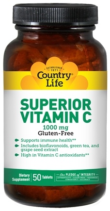 DROPPED: Country Life - Superior Vitamin C 1000 mg. - 90 Tablets