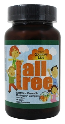 DROPPED: Country Life - Tall Tree Children's Chewable Multi-Vitamin and Mineral Complex Natural Orange & Pineapple Flavor - 100 Wafers
