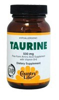 DROPPED: Country Life - Taurine with B6 500 mg. - 50 Vegetarian Capsules
