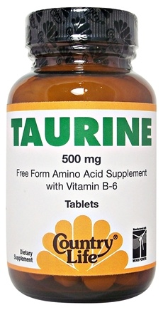 DROPPED: Country Life - Taurine Free-Form Amino Acid Supplement with Vitamin B-6 500 mg. - 100 Tablets CLEARANCE PRICED
