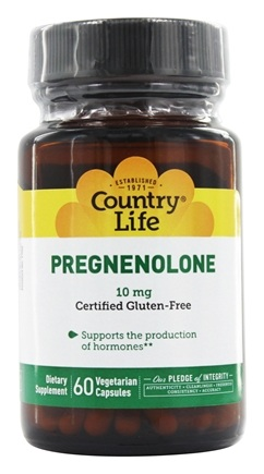 Country Life - Pregnenolone 10 mg. - 60 Vegetarian Capsules