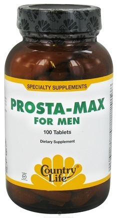 DROPPED: Country Life - Prosta-Max For Men - 100 Tablets Formerly Biochem CLEARANCED PRICED