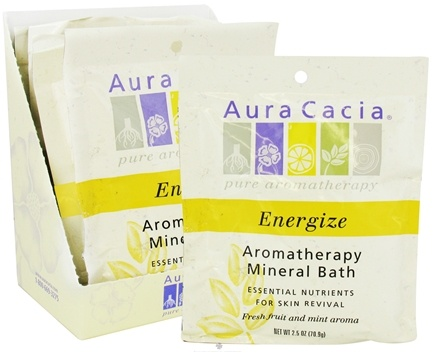 DROPPED: Aura Cacia - Aromatherapy Mineral Bath Energize - 2.5 oz. CLEARANCE PRICED