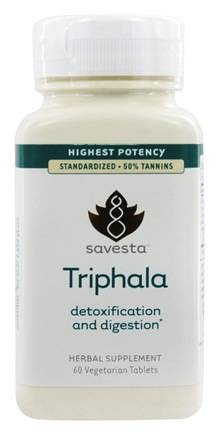 Savesta - Triphala Detoxifican and Digestion Highest Potency - 60 Vegetarian Tablets Formerly Ayurceutics