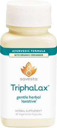 DROPPED: Savesta - TriphaLax - 60 Vegetarian Capsules Formerly Ayurceutics