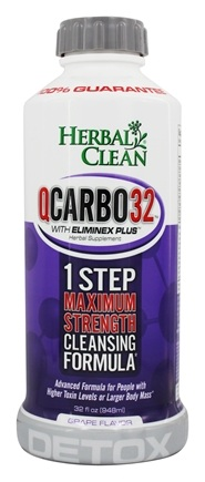 Zoom View - Herbal Clean QCarbo32 with Eliminex Mega Strength Cleansing Formula