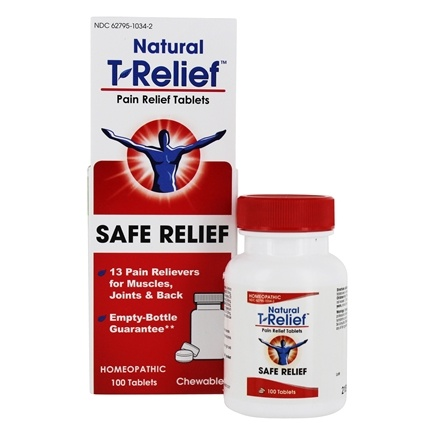 MediNatura - T-Relief Pain Relief - 100 Tablet(s) Formerly BHI/Heel Traumeel Pain Relief