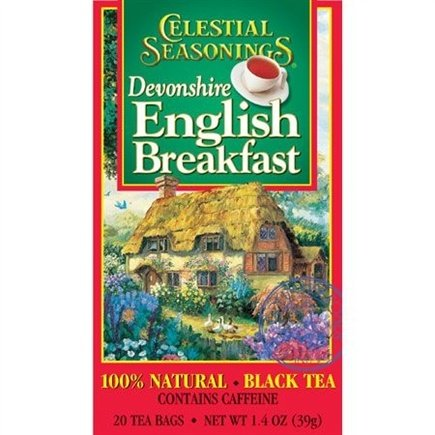 DROPPED: Celestial Seasonings - Devonshire English Breakfast Black Tea - 20 Tea Bags