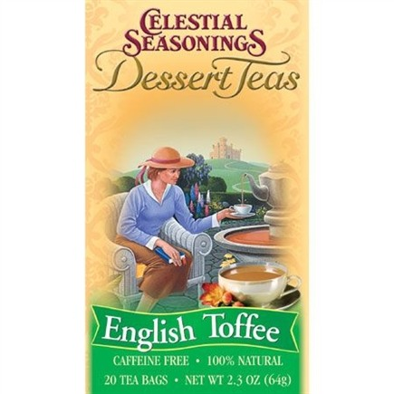 DROPPED: Celestial Seasonings - English Toffee Dessert Tea Caffeine Free - 20 Tea Bags