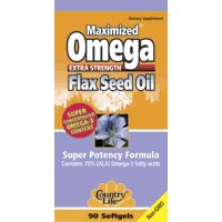 DROPPED: Country Life - Maximized Omega Flax Seed Oil Extra Strength - 90 Softgels