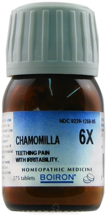 DROPPED: Boiron - Chamomilla 6 X - 275 Tablets CLEARANCE PRICED