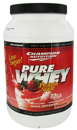 DROPPED: Champion Performance - Pure Whey Protein Stack Strawberry - 2.2 lbs. CLEARANCE PRICED