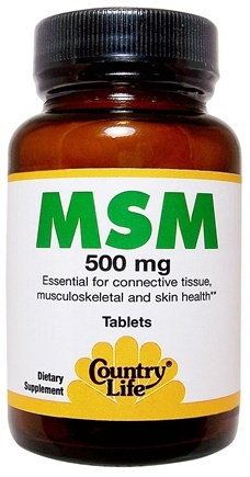 DROPPED: Country Life - MSM 500 mg. - 180 Tablets