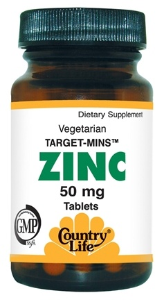 DROPPED: Country Life - Zinc Target Mins 50 mg. - 90 Tablets