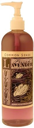DROPPED: Common Sense Farm - French Lavender Hand & Body Cleanser - 8.5 oz. CLEARANCE PRICED
