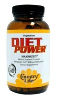 DROPPED: Country Life - Diet Power Nutrient Formula Ephedra Free Metabolic Aid - 90 Tablets