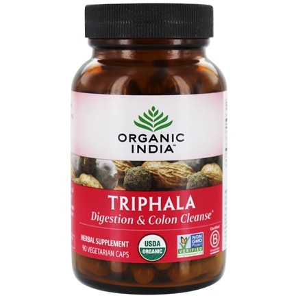 Organic India - Triphala Digestion & Colon Cleanse - 90 Vegetarian Capsules