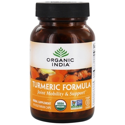 Organic India - Turmeric Formula for Joint Mobility & Support - 90 Vegetarian Capsules
