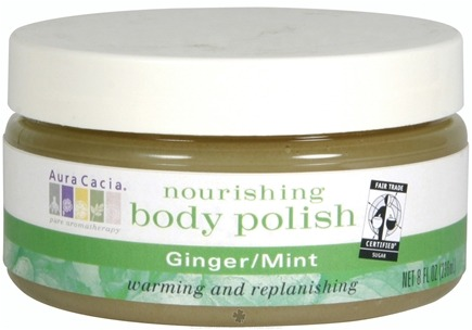 DROPPED: Aura Cacia - Nourishing Body Polish Ginger & Mint - 8 oz. CLEARANCE PRICED