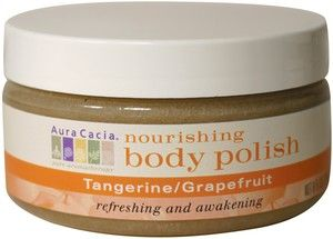 DROPPED: Aura Cacia - Nourishing Body Polish Tangerine & Grapefruit - 8 oz.