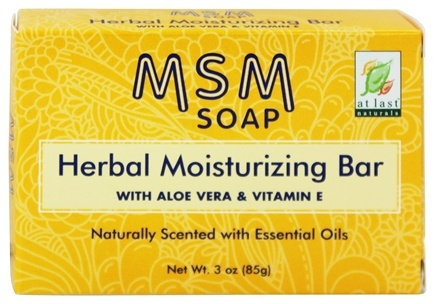 DROPPED: At Last Naturals - MSM Herbal Moisturizing Bar Soap - 3 oz. Formerly Born Again
