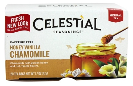Celestial Seasonings - Honey Vanilla Chamomile Herb Tea Caffeine Free - 20 Tea Bags
