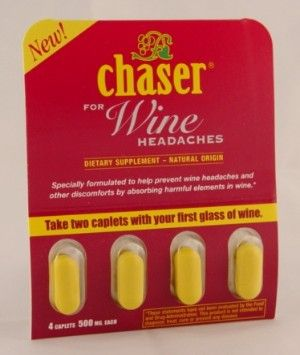 DROPPED: Chaser - Chaser For Wine Headaches 500 mg. - 4 Caplets