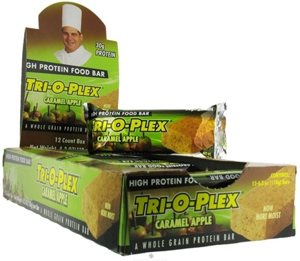 DROPPED: Chef Jay's - Tri-O-Plex High Protein Bar Caramel Apple - 4.2 oz.