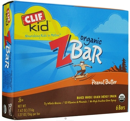 DROPPED: Clif Bar - Kid Z-Bar Organic Peanut Butter - 6 Bars