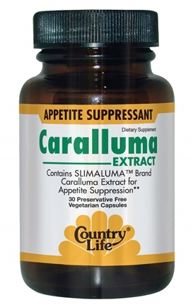 DROPPED: Country Life - Caralluma Extract Appetite Suppressant - 30 Vegetarian Capsules