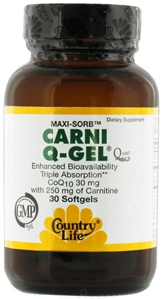 DROPPED: Country Life - Carni Q Gel - 30 Softgels