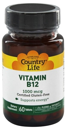 Country Life - Vitamin B12 Time Release 1000 mcg. - 60 Tablets