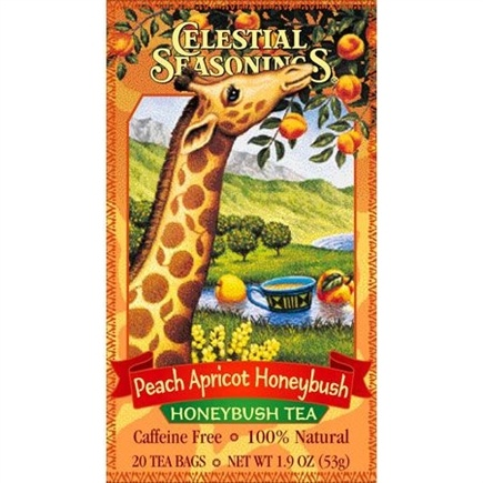 DROPPED: Celestial Seasonings - Peach Apricot Honeybush Herb Tea - 20 Tea Bags