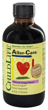 Child Life Essentials - Child Aller-Care Grape - 4 oz. Formerly Aller-gease