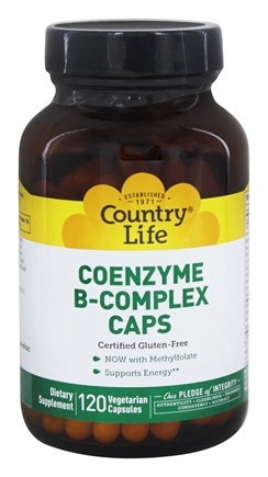 Country Life - Coenzyme B Complex Caps - 120 Vegetarian Capsules