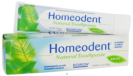 DROPPED: Boiron - Homeodent Natural Toothpaste (100 g) Anise Flavor - 3.3 Oz. CLEARANCE PRICED