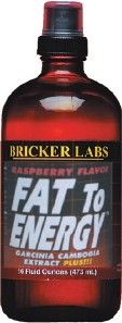 DROPPED: Bricker Labs - Fat To Energy Raspberry Flavor - 16 oz.