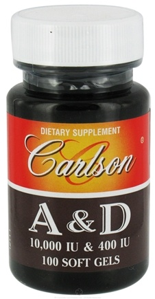 DROPPED: Carlson Labs - Vitamin A & D/10,000 IU & 400 IU - 100 Softgels CLEARANCE PRICED
