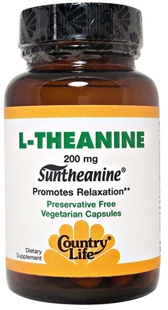 DROPPED: Country Life - L-Theanine Suntheanine Amino Acid - 30 Vegetarian Capsules