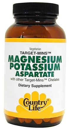 DROPPED: Country Life - Target-Mins Magnesium Potassium Aspartate - 90 Vegetarian Tablets CLEARANCE PRICED