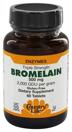 Country Life - Bromelain Triple Strength Enzymes 500 mg. - 60 Tablets